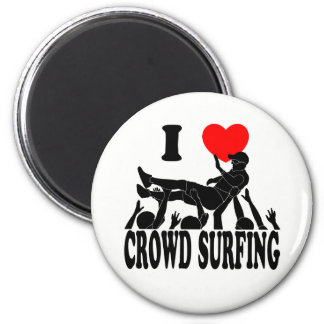 I Love Crowd Surfing (male) (blk) Magnet