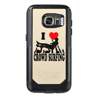 I Love Crowd Surfing (male) (blk) OtterBox Samsung Galaxy S7 Case
