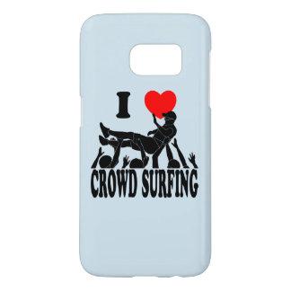 I Love Crowd Surfing (male) (blk) Samsung Galaxy S7 Case