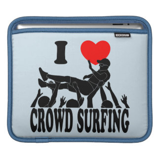 I Love Crowd Surfing (male) (blk) Sleeve For iPads