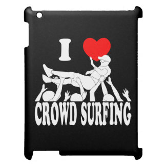 I Love Crowd Surfing (male) (wht) iPad Cover