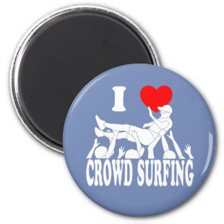 I Love Crowd Surfing (male) (wht) Magnet