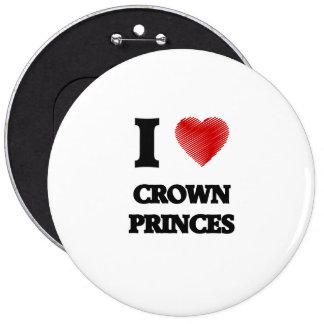 I love Crown Princes Button