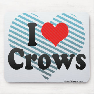 I Love Crows Mousepads