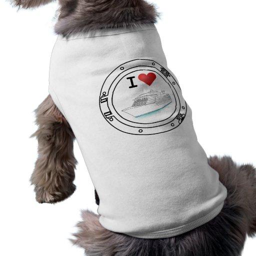 I Love Cruise Ships Doggie Tshirt
