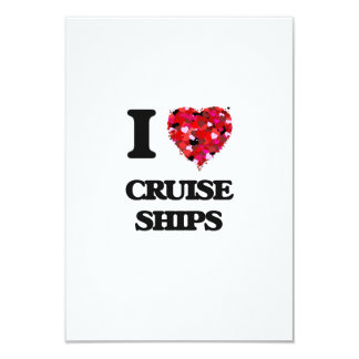 I love Cruise Ships 3.5x5 Paper Invitation Card