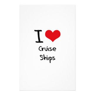 I love Cruise Ships Customized Stationery