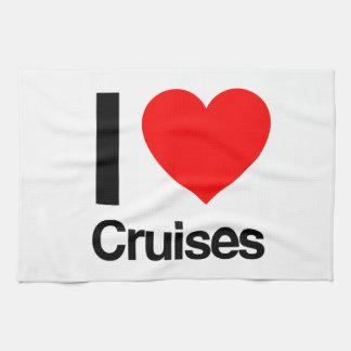 i love cruises hand towel