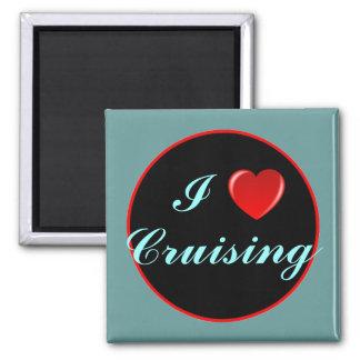 I Love Cruising 03 2 Inch Square Magnet