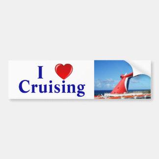 I Love Cruising C Car Bumper Sticker