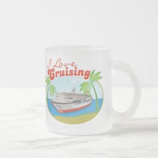 I Love Cruising Frosted Mug