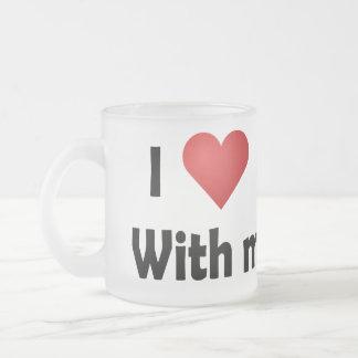I Love Cruising... Hubby Frosted Glass Coffee Mug