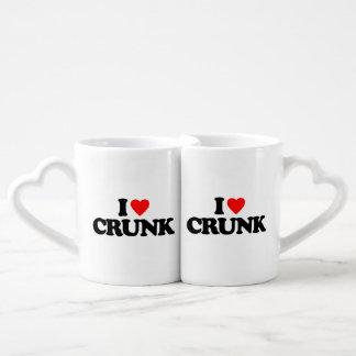 I LOVE CRUNK COFFEE MUG SET