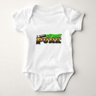 I Love Crust PUNK music Baby Bodysuit