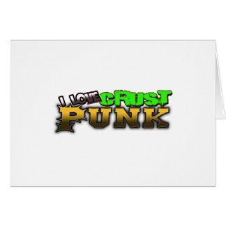 I Love Crust PUNK music Card