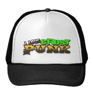 I Love Crust PUNK music Trucker Hat