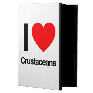 i love crustaceans iPad air case