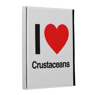 i love crustaceans iPad cases