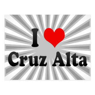 I Love Cruz Alta, Brazil Postcard