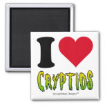 I Love Cryptids 2 Inch Square Magnet