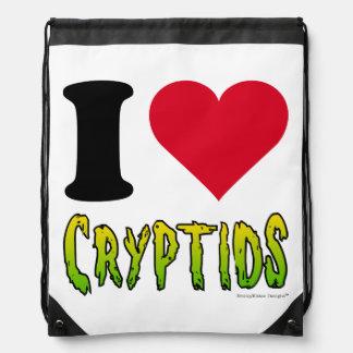 I Love Cryptids Cinch Bag