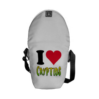 I Love Cryptids Messenger Bags