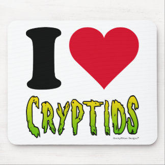 I Love Cryptids Mouse Pad