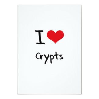 I love Crypts 5x7 Paper Invitation Card