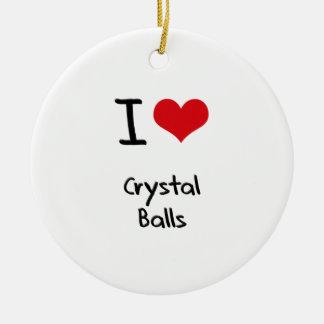 I love Crystal Balls Ornaments