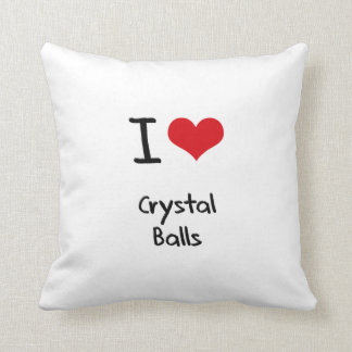 I love Crystal Balls Throw Pillows