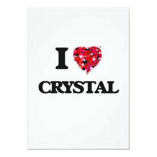 I love Crystal 5x7 Paper Invitation Card
