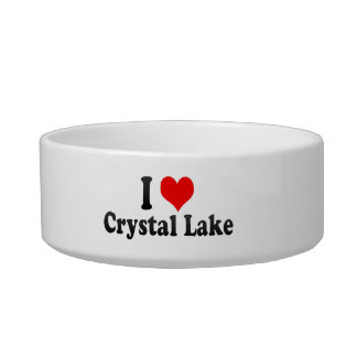 I Love Crystal Lake, United States Pet Bowls