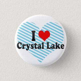 I Love Crystal Lake, United States Pinback Button
