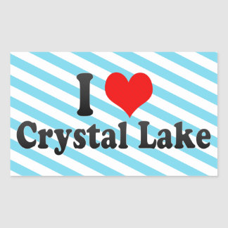 I Love Crystal Lake, United States Rectangular Sticker