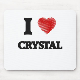 I love Crystal Mouse Pad
