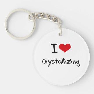 I love Crystallizing Single-Sided Round Acrylic Keychain