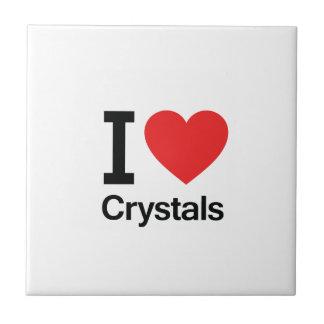 I Love Crystals Ceramic Tile