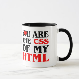I love CSS / YOU ARE THE CSS OF MY HTML / HEART Mug