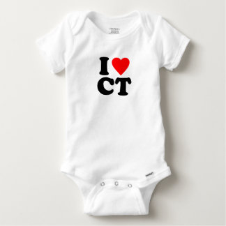 I LOVE CT BABY ONESIE