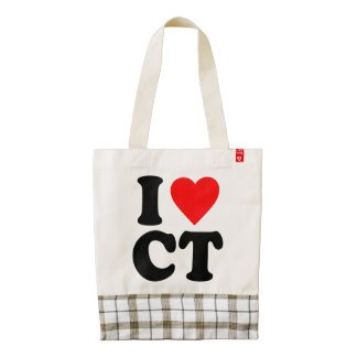 I LOVE CT ZAZZLE HEART TOTE BAG