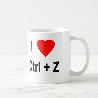 I Love Ctrl + Z Coffee Mug