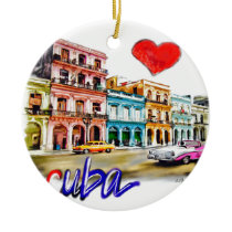 I love Cuba Ceramic Ornament