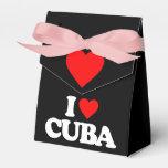 I LOVE CUBA PARTY FAVOR BOX