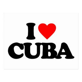 I LOVE CUBA POSTCARD