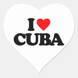 I LOVE CUBA HEART STICKER