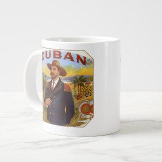 I love Cuban Cigars  bone china mug 20 Oz Large Ceramic Coffee Mug