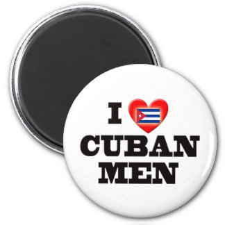 I Love Cuban Men 2 Inch Round Magnet