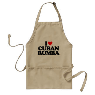 I LOVE CUBAN RUMBA ADULT APRON
