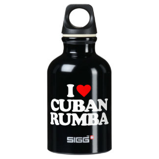 I LOVE CUBAN RUMBA ALUMINUM WATER BOTTLE