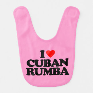 I LOVE CUBAN RUMBA BABY BIB
